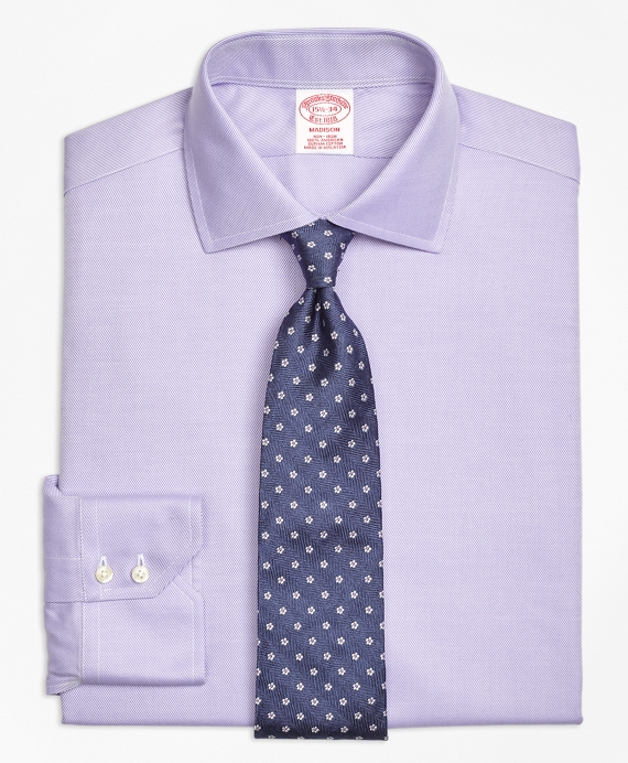 Madison Classic-Fit Dress Shirt, Non-Iron Spread Collar Purple