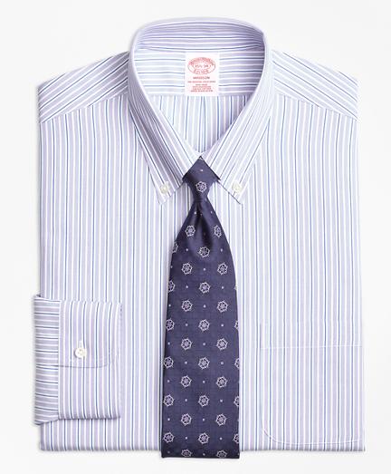 Non-Iron Madison Fit Double Stripe Dress Shirt