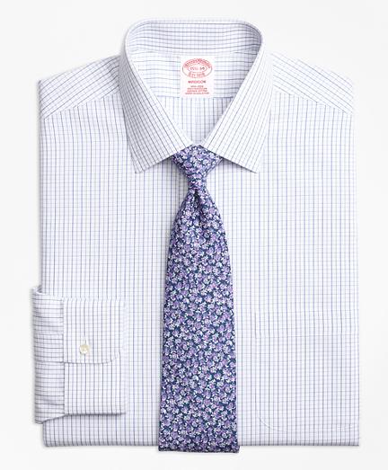 Non-Iron Madison Fit Alternating Windowpane Dress Shirt