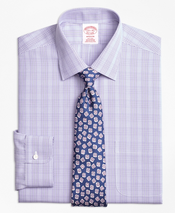 Non-Iron Madison Fit Tonal Plaid Dress Shirt