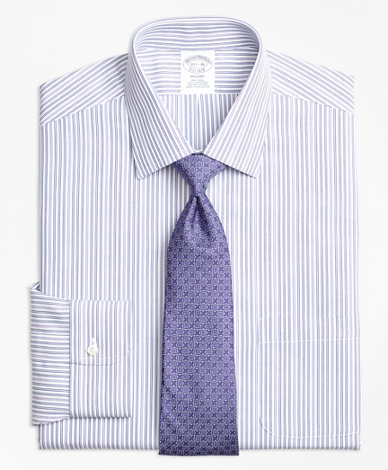 Non-Iron Regent Fit Alternating Double Stripe Dress Shirt