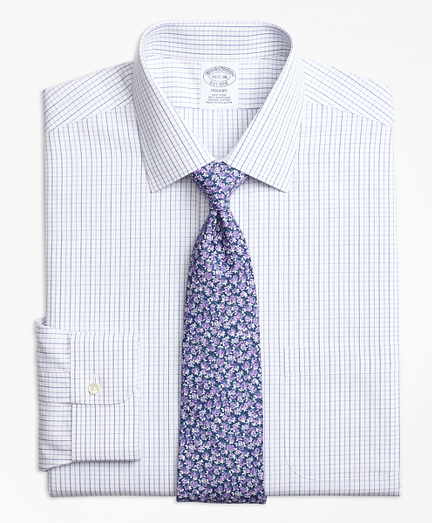 Regent Fitted Dress Shirt, Non-Iron Alternating Windowpane