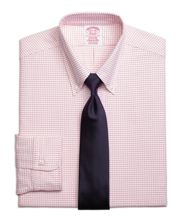 Original Polo® Button-Down Oxford Madison Classic-Fit Dress Shirt, Small Windowpane Pink