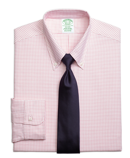 Milano Fit Original Polo® Button-Down Oxford Small Windowpane Dress Shirt