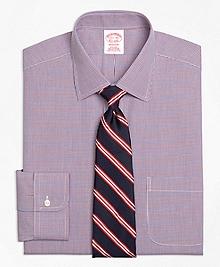 Non-Iron Madison Fit Two-Tone Check Dress Shirt
