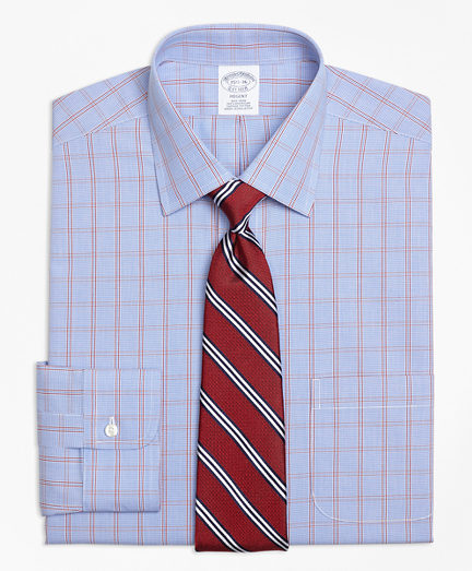 Regent Fitted Dress Shirt, Non-Iron Framed Houndstooth