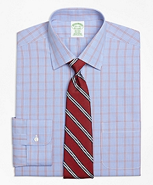 Non-Iron Milano Fit Framed Houndstooth Dress Shirt
