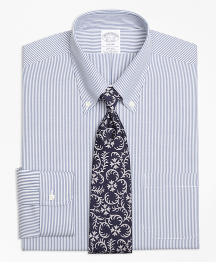 Stretch Regent Fitted Dress Shirt, Non-Iron Candy Stripe