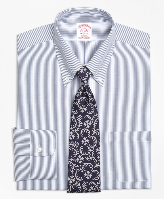 Stretch Madison Classic-Fit Dress Shirt, Non-Iron Candy Stripe