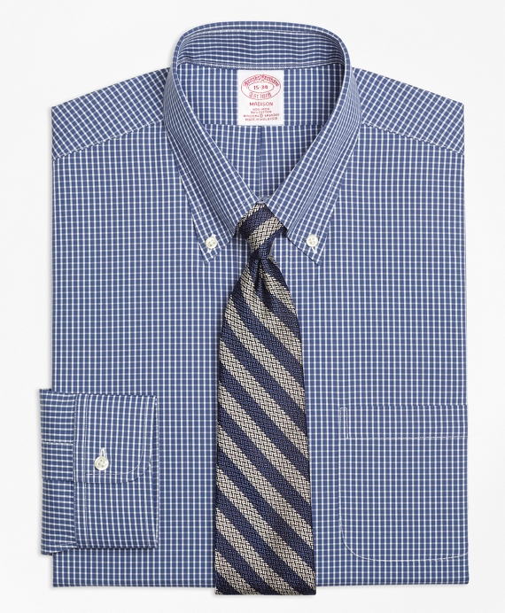 Stretch Madison Classic-Fit Dress Shirt, Non-Iron Ground Check