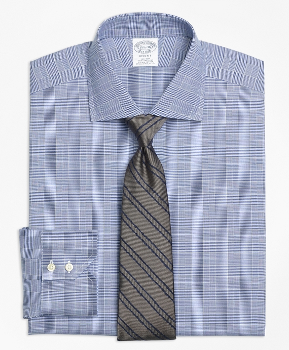Non-Iron Regent Fit Glen Plaid Dress Shirt