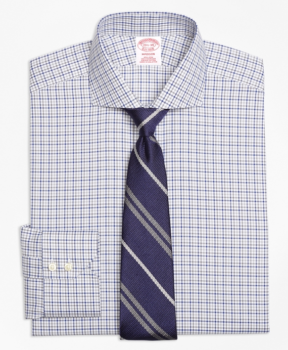 Madison Classic-Fit Dress Shirt, Non-Iron Two-Tone Windowpane