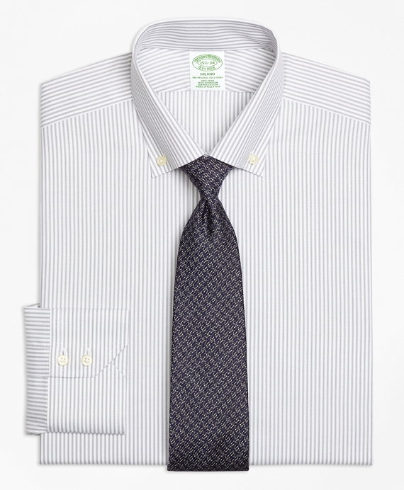 Non-Iron Milano Fit Narrow Split Stripe Dress Shirt