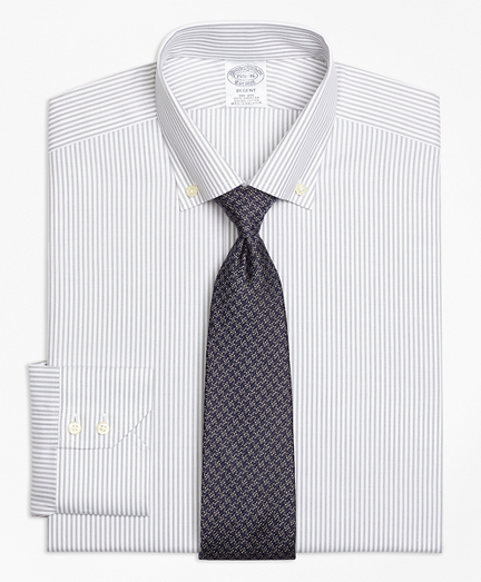 Regent Fitted Dress Shirt, Non-Iron Narrow Split Stripe