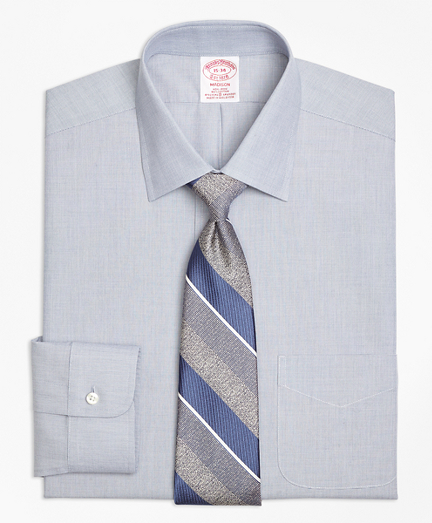 Non-Iron Madison Fit End-on-End Stretch Dress Shirt