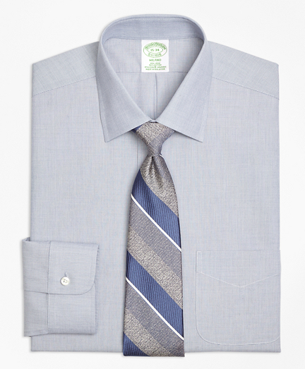 Non-Iron Milano Fit End-on-End Stretch Dress Shirt