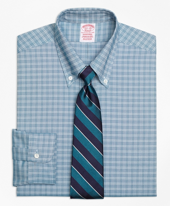 Original Polo® Button-Down Oxford Traditional Relaxed-Fit Dress Shirt, Ground Twin Check Green