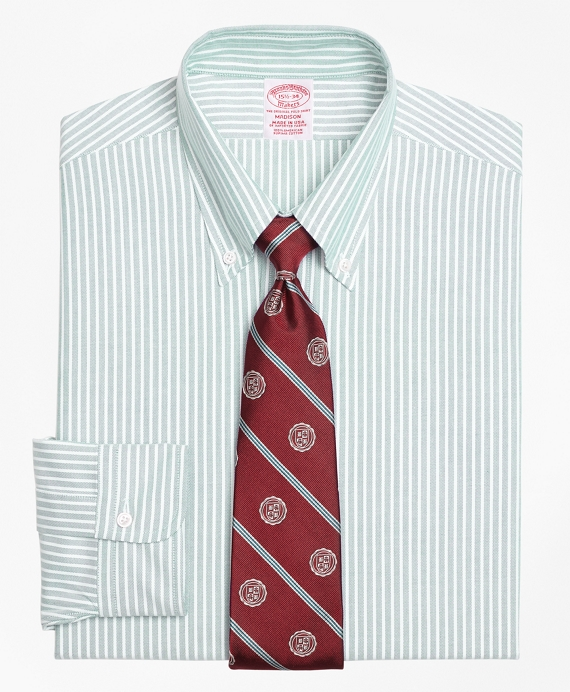 Madison Fit Original Polo® Button-Down Oxford Ground Stripe Dress Shirt