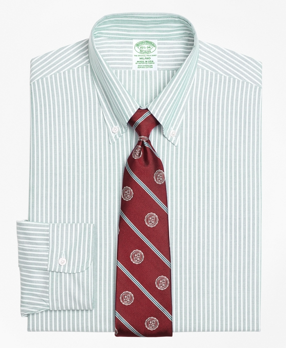 Original Polo® Button-Down Oxford Milano Slim-Fit Dress Shirt, Ground Stripe