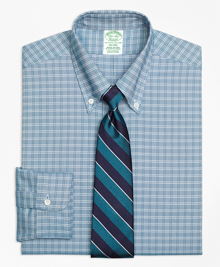 Milano Fit Original Polo® Button-Down Oxford Ground Twin Check Dress Shirt