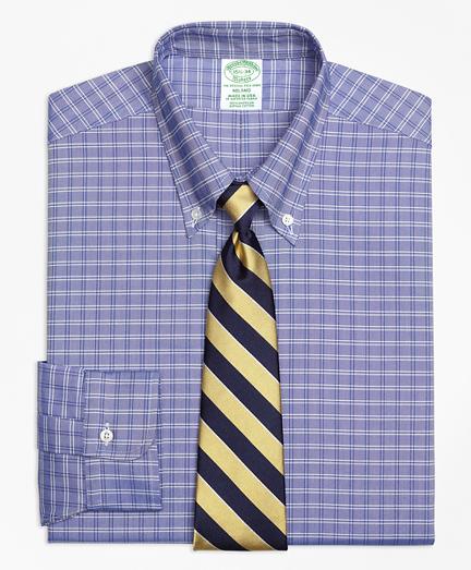 Milano Fit Original Polo® Button-Down Oxford Ground Twin Check Dress Shirt