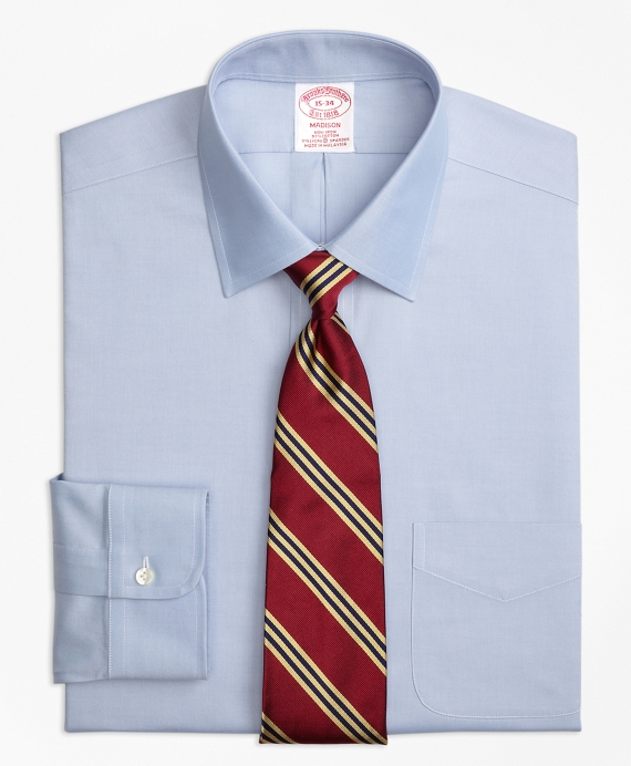 Stretch Madison Classic-Fit Dress Shirt, Non-Iron Spread Collar Blue