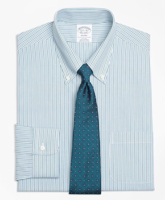 Regent Fitted Dress Shirt, Non-Iron Framed Double Stripe