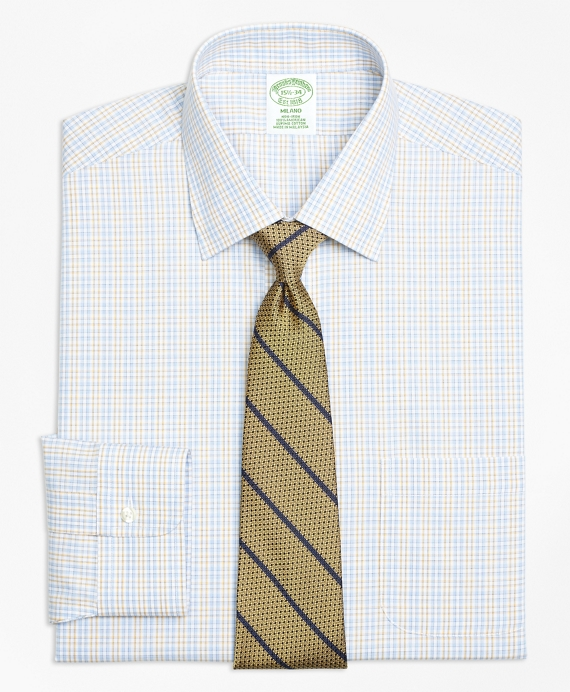 Milano Slim-Fit Dress Shirt, Non-Iron Alternating Check