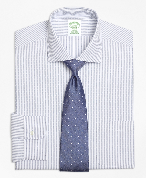 Milano Slim-Fit Dress Shirt, Non-Iron Dobby Candy Stripe