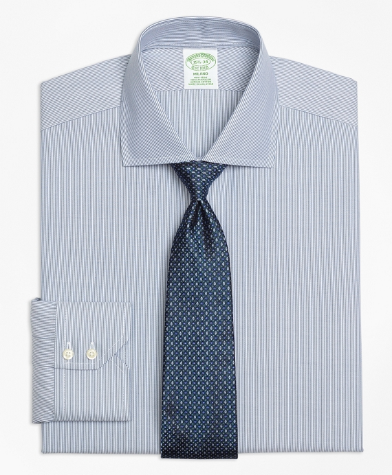 Milano Slim-Fit Dress Shirt, Non-Iron Mini-Stripe