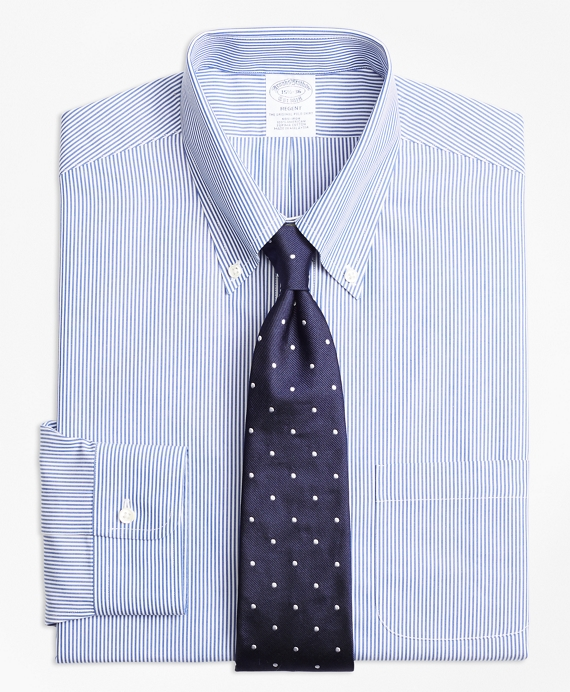 Regent Fitted Dress Shirt, Non-Iron Candy Stripe Blue