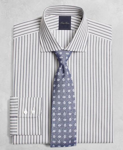 Golden Fleece® Milano Slim-Fit Dress Shirt, English Collar Alternating-Split-Stripe