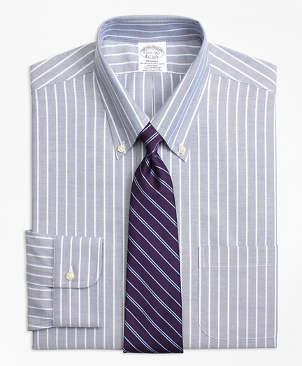 Non-Iron Regent Fit BrooksCool® Ground Shadow Stripe Dress Shirt