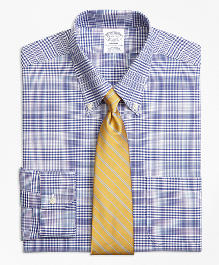 BrooksCool® Regent Fitted Dress Shirt, Non-Iron Plaid