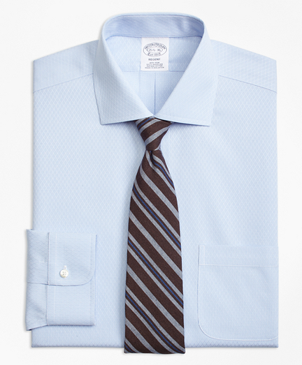 Non-Iron Regent Fit Dobby Diamond Dress Shirt