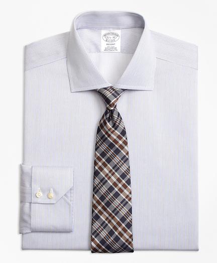 Regent Fitted Dress Shirt, Non-Iron Narrow Stripe