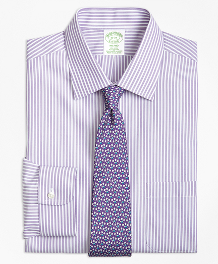 Non-Iron Milano Fit Music Stripe Stretch Dress Shirt