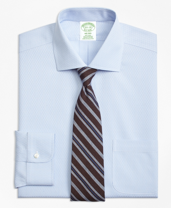 Milano Slim-Fit Dress Shirt, Non-Iron Dobby Diamond