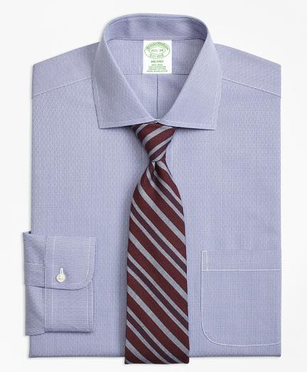Milano Slim-Fit Dress Shirt, Non-Iron Dobby Diamond