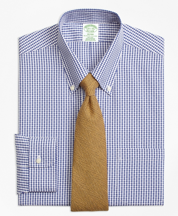 Non-Iron Milano Fit Dobby Gingham Dress Shirt