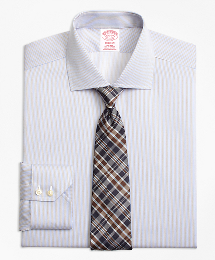 Non-Iron Madison Fit Narrow Stripe Dress Shirt