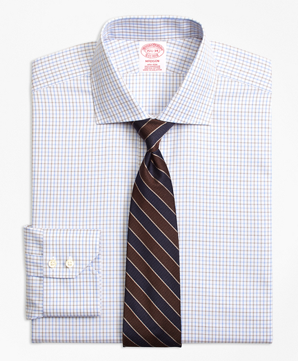 Non-Iron Madison Fit Triple Overcheck Dress Shirt