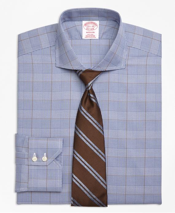 Madison Classic-Fit Dress Shirt, Non-Iron Large Plaid Blue