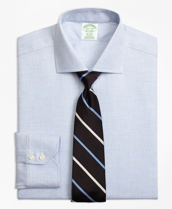 Milano Slim-Fit Dress Shirt, Non-Iron Houndstooth - Brooks Brothers