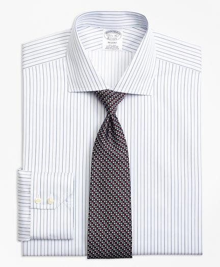 Regent Fitted Dress Shirt, Non-Iron Framed Music Stripe