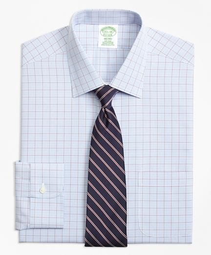 Milano Slim-Fit Dress Shirt, Non-Iron Overcheck