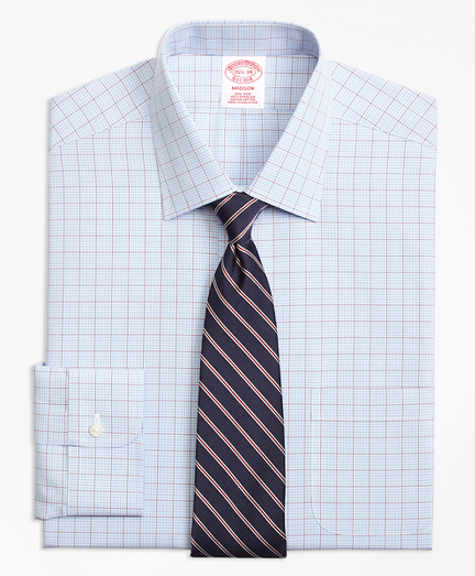 Madison Classic-Fit Dress Shirt, Non-Iron Overcheck