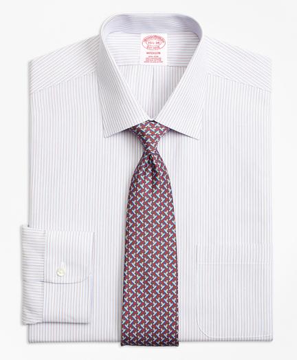 Madison Classic-Fit Dress Shirt, Non-Iron Triple Stripe