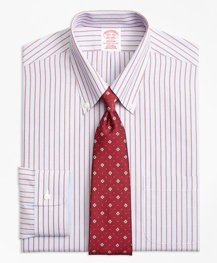 Madison Classic-Fit Dress Shirt, Non-Iron Split Stripe