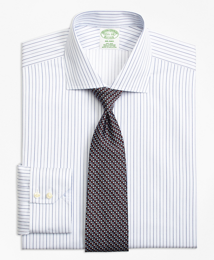 Non-Iron Milano Fit Framed Music Stripe Dress Shirt